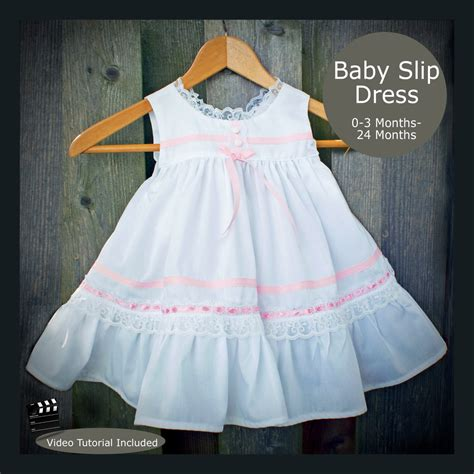 baby clothes pattern pdf pdf sewing pattern baby slip dress with bloomers 0 3 months to
