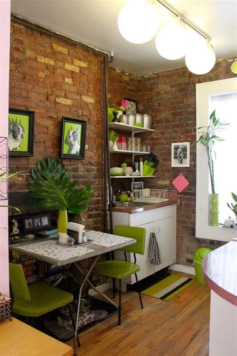 tiny apartment tiny apartment in new york with exposed brick walls