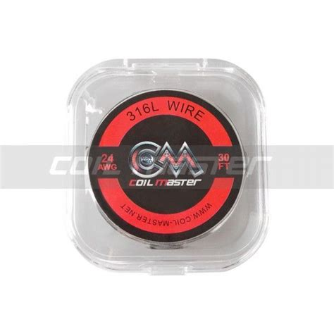 Coilart Ss316l 26ga 24ga Authentic Coil 30ft Wire Kawat 26 24 Awg coil master ss316l wire 30ft shisha chic