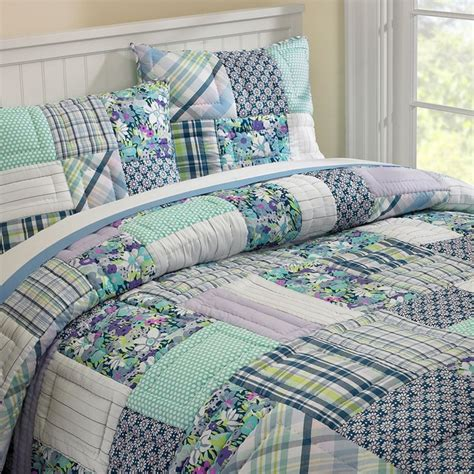 Patchwork Bed - boho patchwork quilt sham contemporary bedding
