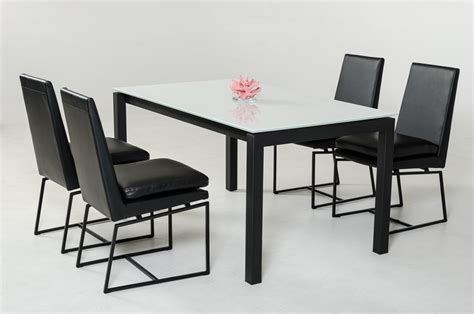 commix modern extendable glass dining table