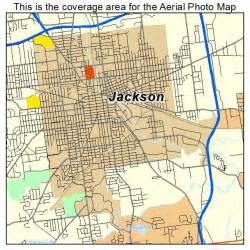 aerial photography map of jackson mi michigan