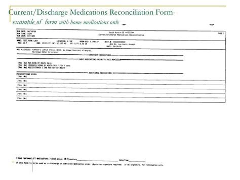 home medication review template ppt medication reconciliation process powerpoint