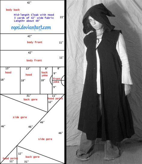 cloak template pattern sleeveless cloak duster by eqos on deviantart