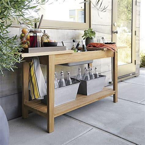 regatta console bar work station crate and barrel crate and barrel crates and bar