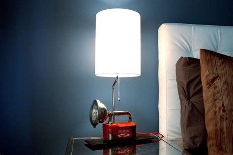 hand crafted industrial lamps repurposed lighting