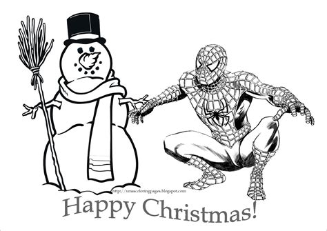 spiderman coloring spiderman christmas coloring page