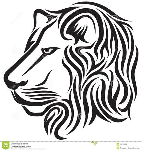 tatuaggio tribale capo del leone illustrazione vettoriale