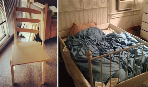 Chair Fail by Attempts To Assemble Flat Pack Furniture Result In Diy