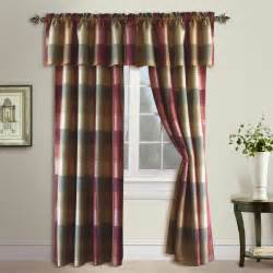 plaid valance united curtain company plaid 54 quot x 18 quot trendy but tailored