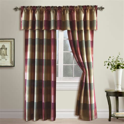 Plaid Valances united curtain company plaid 54 quot x 18 quot trendy but tailored polyester valance colors blue green
