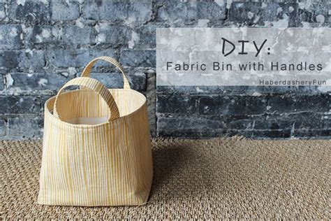 diy fabric storage box with a handle shelterness diy fabric bin with handles easy tutorial check it out