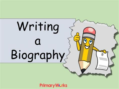biography features ks2 powerpoint writing a biography