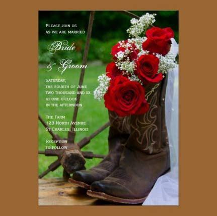 Country Boots Casual Sol Bintik convites de casamento r 250 stico no co e na praia