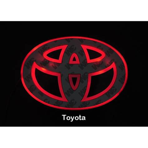 toyota camry logo led car logo red light for toyota camry highlander auto