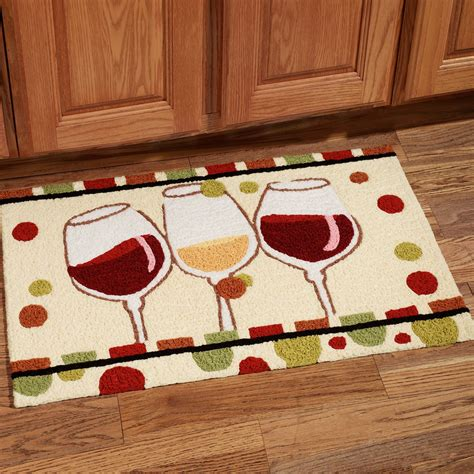 Kitchen Rugs by En Vin Wine Glass Handmade Kitchen Rug