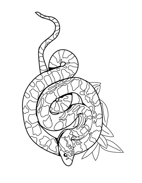 Snake Pictures To Color by Snakes Coloring
