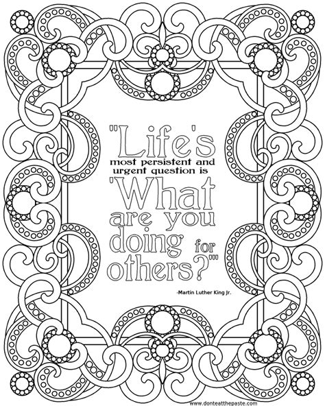 printable coloring quote pages for adults inspirational quotes coloring pages quotesgram coloring