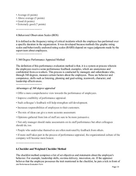 Appraisal Letter Meaning Office Administration Assistant Performance Appraisal