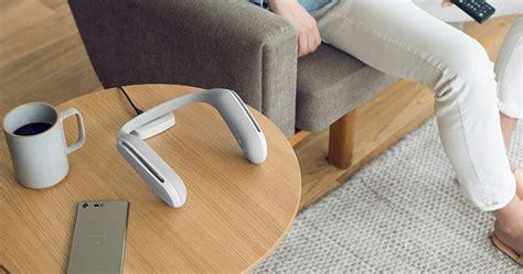 designboom wearable sony s wearable neck speaker srs ws1 offers an immersive