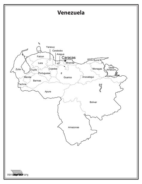 imagenes de venezuela para colorear mapa de venezuela con nombres para imprimir