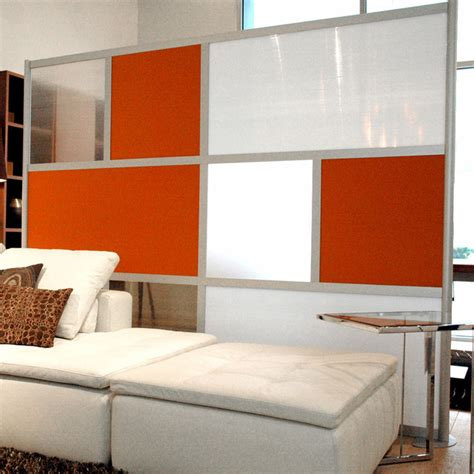 living room dividers 8 modern room divider orange white and translucent panels modern family room dallas