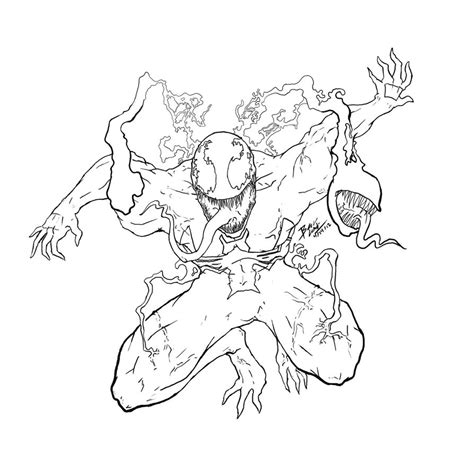 venom coloring pages printable free coloring pages of marvel venom