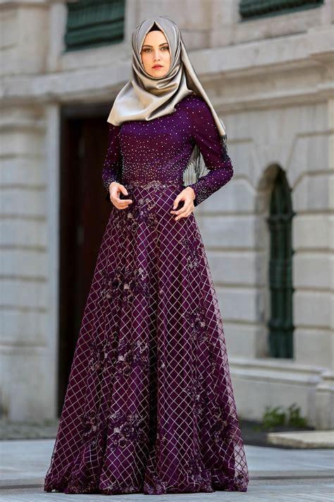 Model Busana Gaun desain menarik dan mewah model gaun pesta muslimah elegan