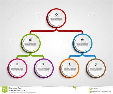 Infographic Design Organization Chart Template Stock Vector Illustration Of Flow Element Organization Chart Design Template