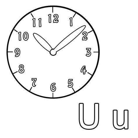 Kostenlose Vorlage Uhr Kostenlose Malvorlage Buchstaben Lernen Ausmalbild U Zum Ausmalen