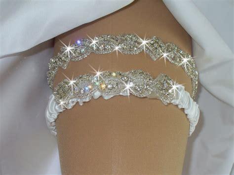bridal garter belt sets wedding garter set bridal rhinestone garter with