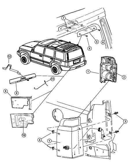 jeep commander parts diagram jeep commander lift gate parts diagram jeep auto wiring