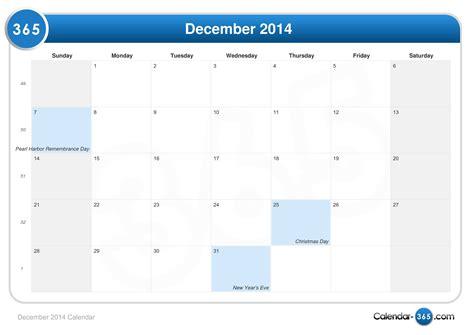 December 2014 Calendar December 2014 Calendar