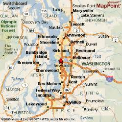 Seattle Area Map by Area Map