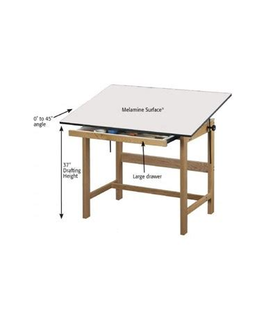Solid Wood Drafting Table Alvin Titan Solid Oak Wood Drafting Table Wtb42 Tiger Supplies