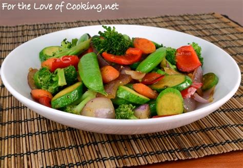 soy sesame vegetable saut 233 for the love of cooking