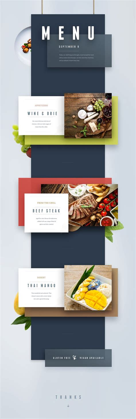 one page layout menu links 237 best presentation design images on pinterest