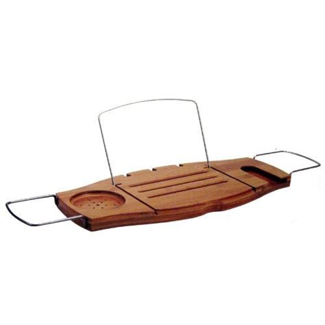 umbra aquala bamboo and chrome bathtub caddy 100 decorating ideas