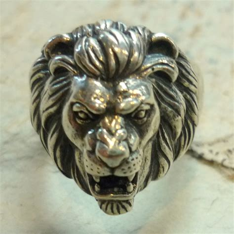 Gats Pu7701 Genuin Leather 1 sterling silver ring animal ring ring chunky