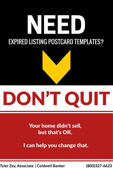 The Ultimate Expired Listing Postcard Free Template Pinterest Real Estate Group Board Expired Listing Template