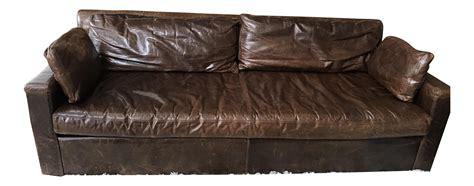 restoration hardware belgian track arm sofa restoration hardware belgian track arm leather sofa chairish