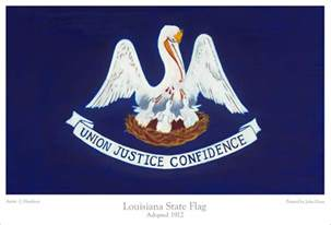 louisiana state colors giclee prints of us state flags reproduced from