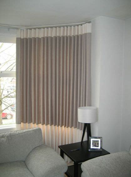 modern bay window curtains contemporary wave linen curtains fitted in a bay window