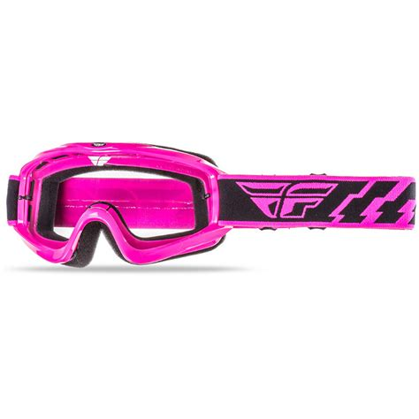 fly motocross goggles new fly racing mx focus fluro pink clear lens dirt bike