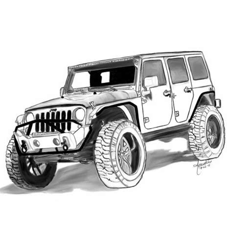 jeep drawing 75 best own creations pastel pencil sketches