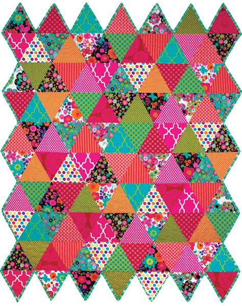 Triangulations Template Quilt Pattern Michele Bilyeu Creates With Heart And Hands Sochi Quilts The Principle Of The Patchwork Quilt