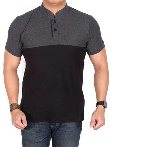Polo Shirt Pria Polos Pendek Hitam brotherholic polo shirt pria lengan pendek abu kombinasi