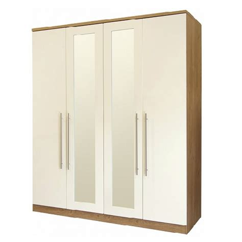 Wardrobe Door Fronts by Kevin Mirrored Wardrobe In Gloss Fronts With 4 Doors