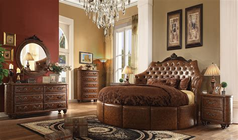 round bedroom set formal round cherry brown bedroom set acme hot sectionals