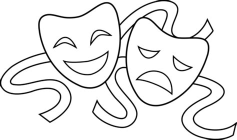 Theatre Mask Outline tattoos dramas and drama masks on